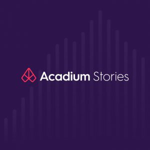 Acadium Stories podcast logo