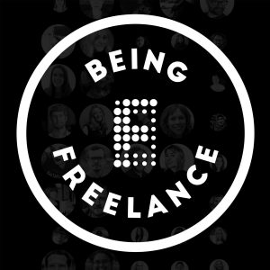 Being Freelance podcast logo