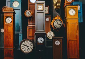 Picture of different clocks