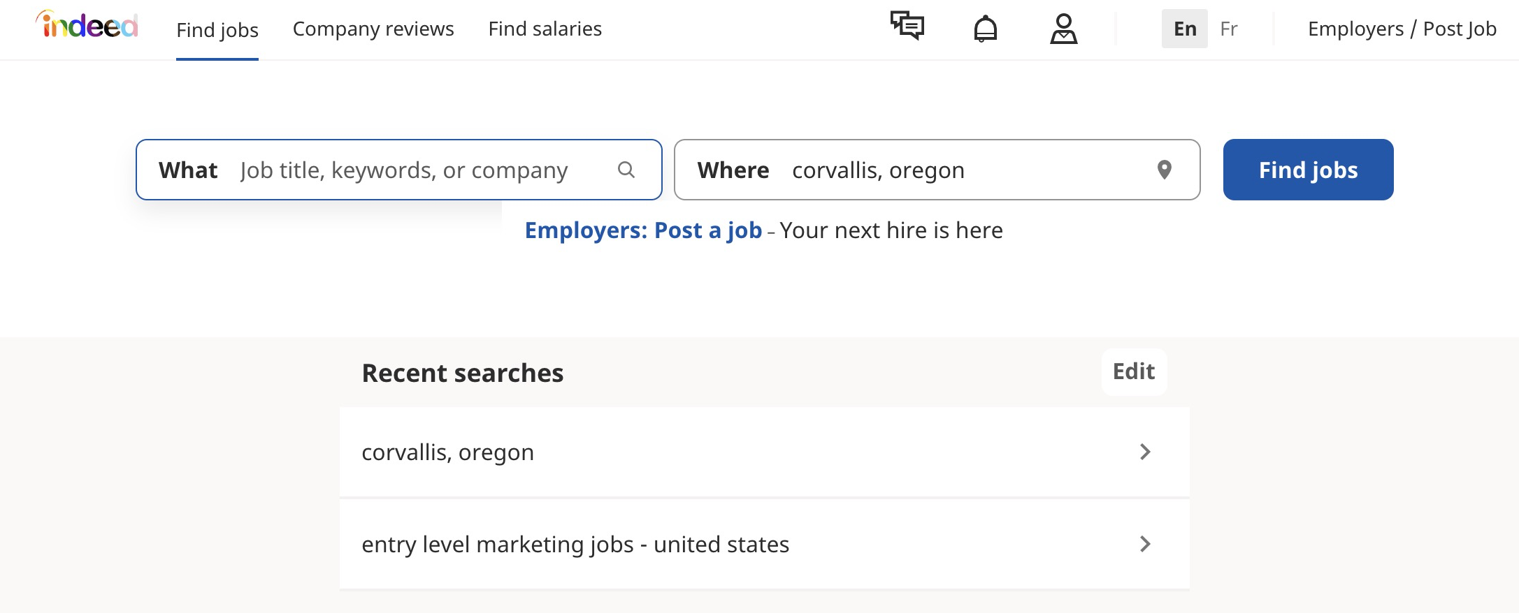 Entry-level marketing jobs on Indeed.com