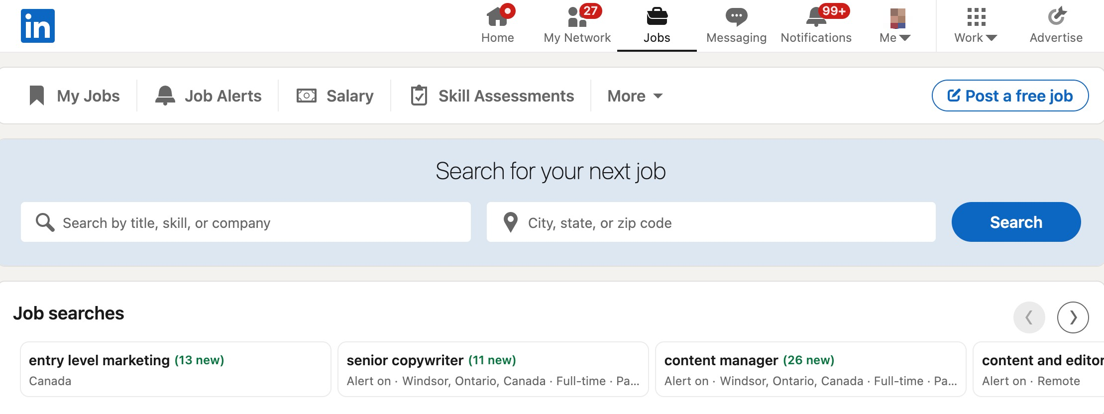 entry level marketing jobs in linkedin