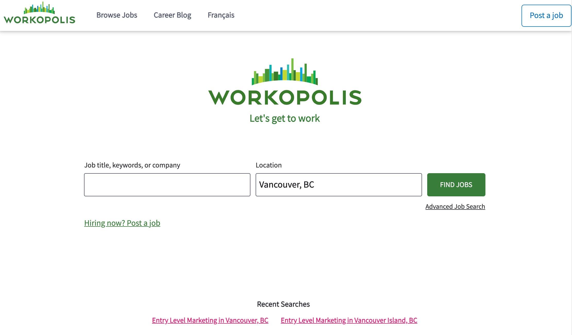 Entry-level marketing jobs workopolis listing